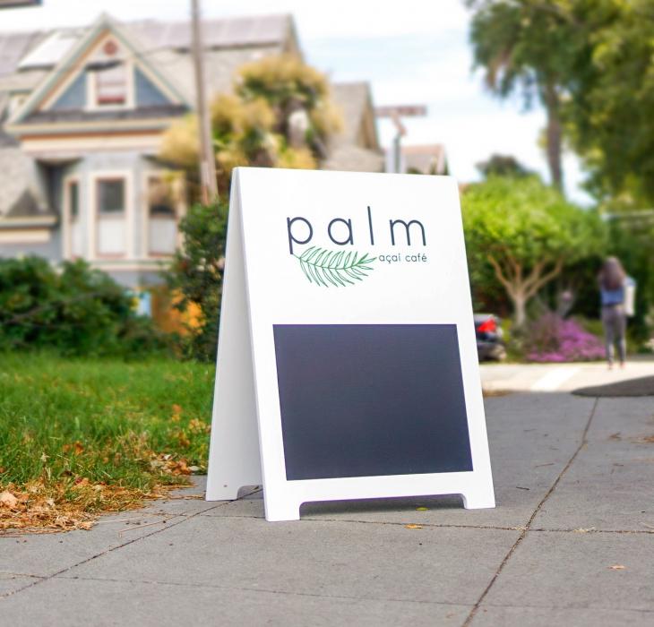 Palm Acai Cafe A-Frame