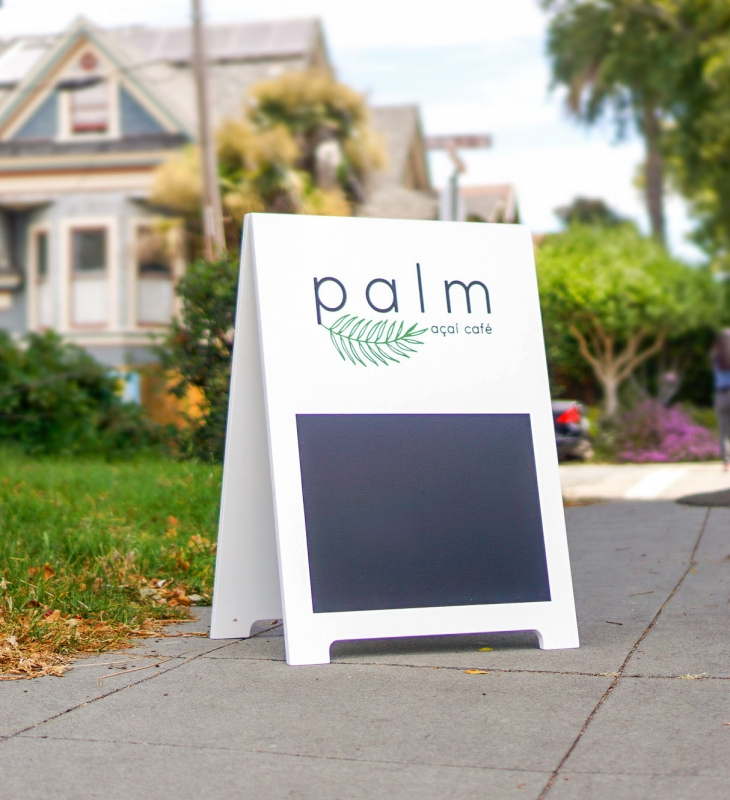 Palm Acai Cafe A-Frame