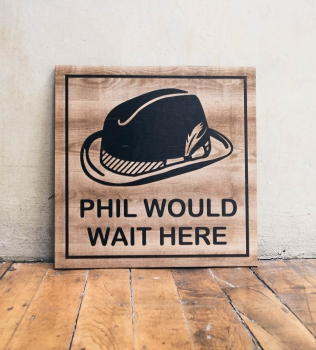 Philz Wait Sign