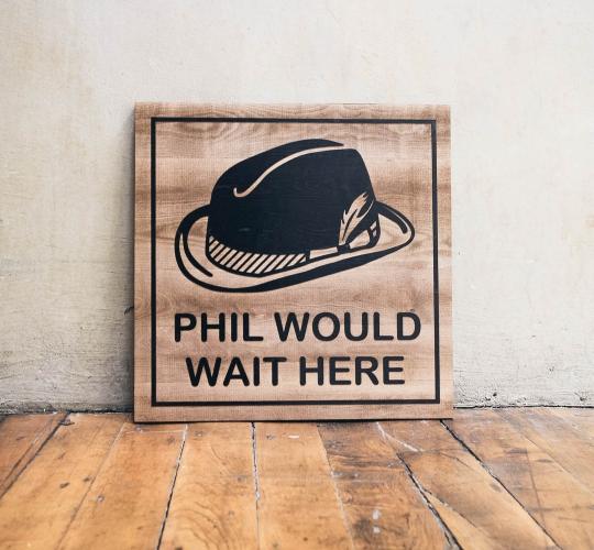 Philz Wait Sign