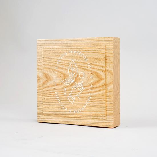 Rishi Tea, Solid Wood Retail Sign