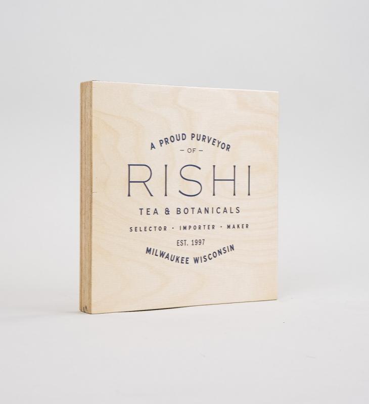 Rishi Tea – Plywood Retail Sign