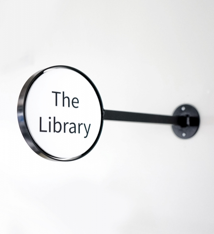 Roostify Library Sign