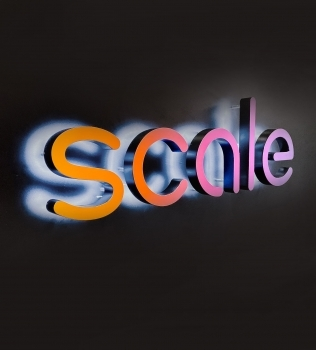 Scale Front Desk Sign
