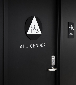 Scale Restroom Signage