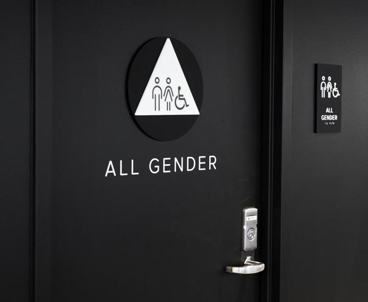 Scale Restroom Signage