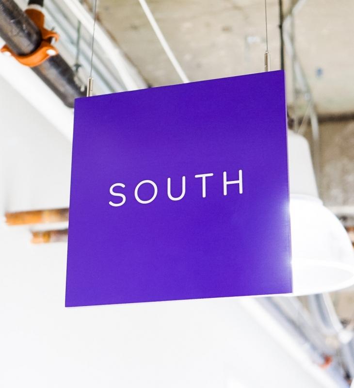 Scale Wayfinding Ceiling Signage
