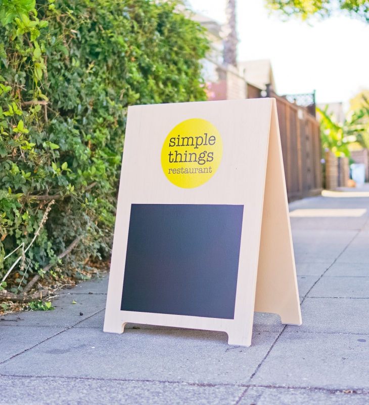 Simple Things Restaurant A-frame