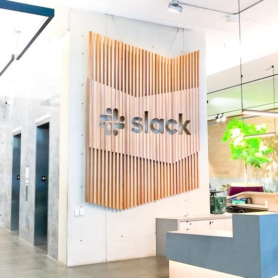 Slack Lobby Sign