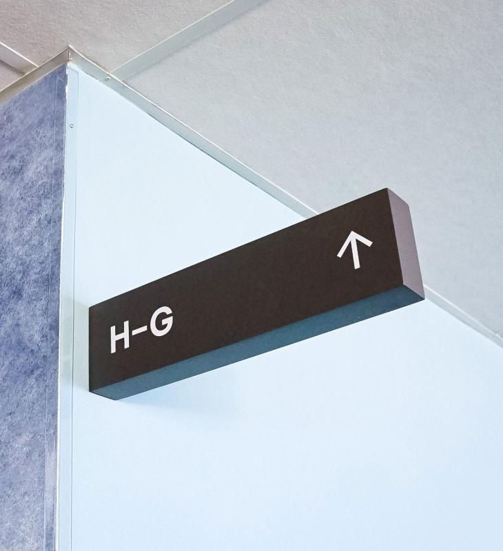 Slack Overhead Wayfinding Signs