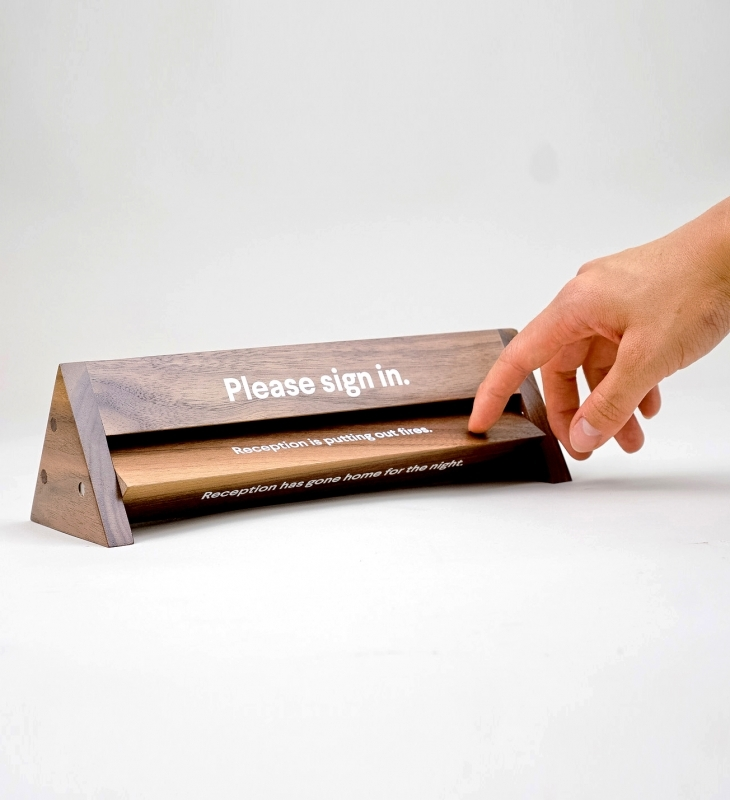 Slack Receptionist Sign
