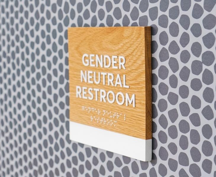 Slack ADA Restroom Wall Signage