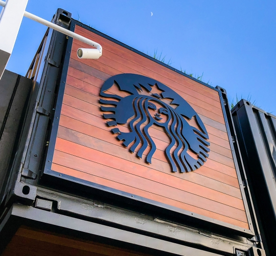 Starbucks Container Sign at Zephyr Walk