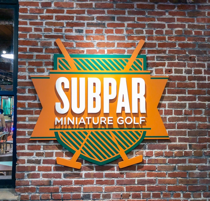 Subpar Mini Golf Exterior Wall Sign