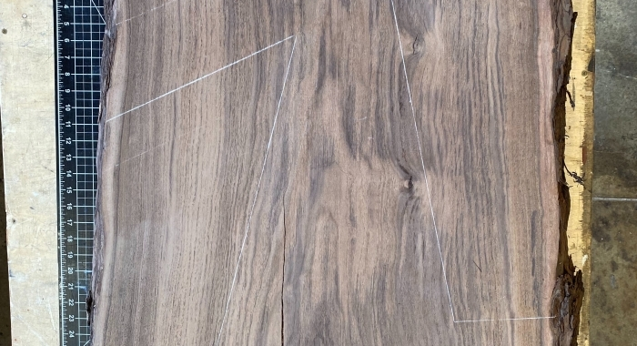 Solid walnut chevron with live edge for Silicon Valley Bank, a U.S.-based high-tech commercial bank that has helped fund more than 30,000 start-ups.