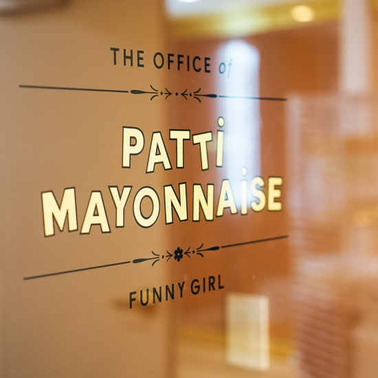 Gold Leaf Glass Door Signage for The Wing San Francisco