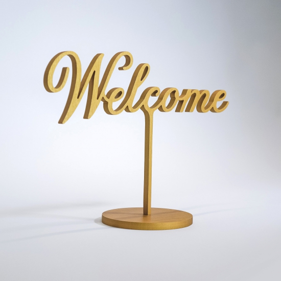 Freestanding Welcome Sign for The Wing San Francisco