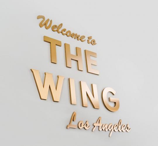 The Wing Los Angeles, Reception Sign
