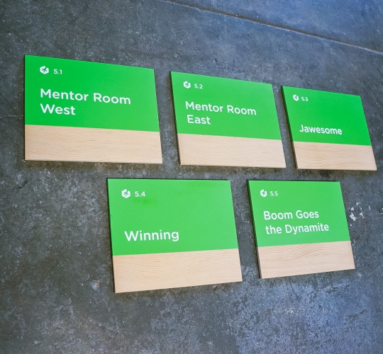 Treehouse Meeting Room Signs