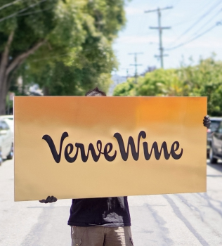 Verve Wine Hanging Blade Sign