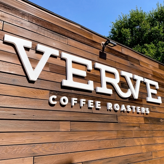 Verve Coffee Exterior Wall Sign