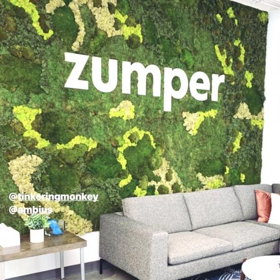 Zumper Lobby Moss Sign