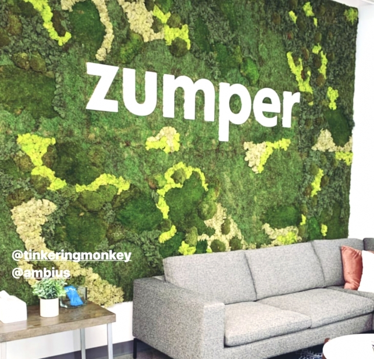 Zumper Lobby Moss Sign